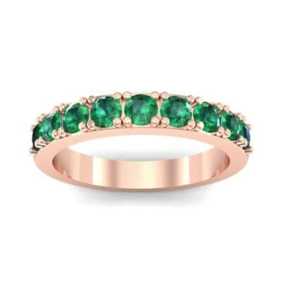 Low-Set Round Brilliant Emerald Ring (0.56 Carat)
