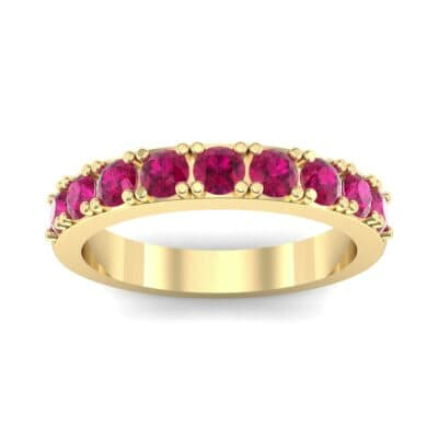 Low-Set Round Brilliant Ruby Ring (0.56 Carat)