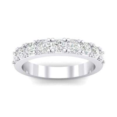 Low-Set Round Brilliant Crystal Ring (0.56 CTW) Top Dynamic View