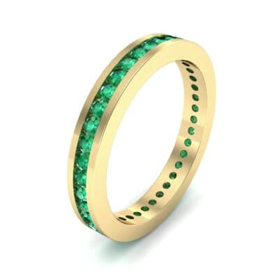 Channel-Set Emerald Eternity Ring (0.59 Carat)