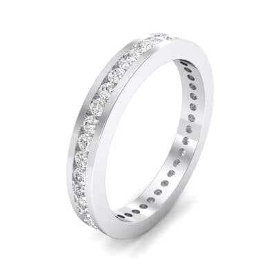 Channel-Set Crystals Eternity Ring (0.59 Carat)