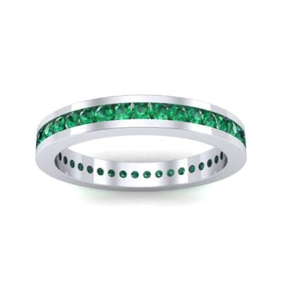 Channel-Set Emerald Eternity Ring (0.59 Carat)