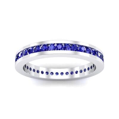 Channel-Set Blue Sapphire Eternity Ring (0.59 Carat)