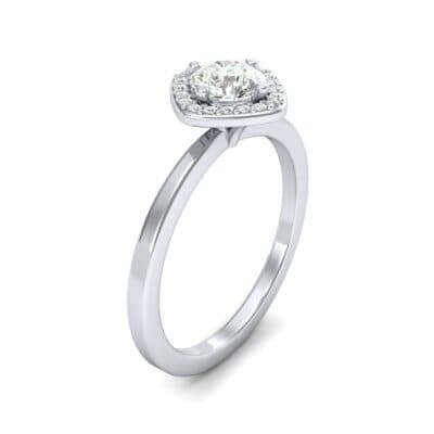 Compass Cushion Halo Round Brilliant Diamond Engagement Ring