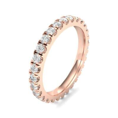 French Pave Diamond Eternity Ring (0.9 Carat)