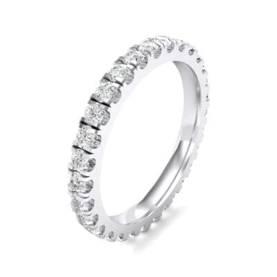 French Pave Crystal Eternity Ring (0.9 CTW) Perspective View