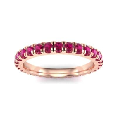 French Pave Ruby Eternity Ring (0.9 Carat)