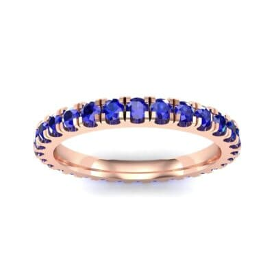 French Pave Blue Sapphire Eternity Ring (0.9 Carat)
