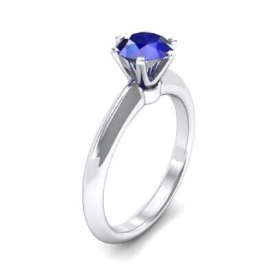 Petite Royale Six-Prong Solitaire Blue Sapphire Engagement Ring (1.1 Carat)