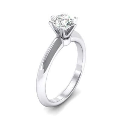 Petite Royale Six-Prong Solitaire Diamond Engagement Ring (0.84 Carat)