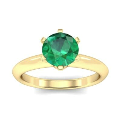 Petite Royale Six-Prong Solitaire Emerald Engagement Ring (1.1 Carat)