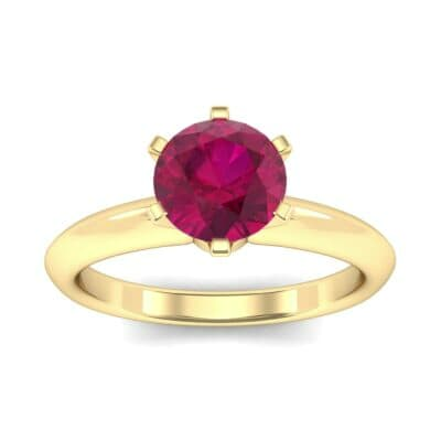 Petite Royale Six-Prong Solitaire Ruby Engagement Ring (1.1 Carat)