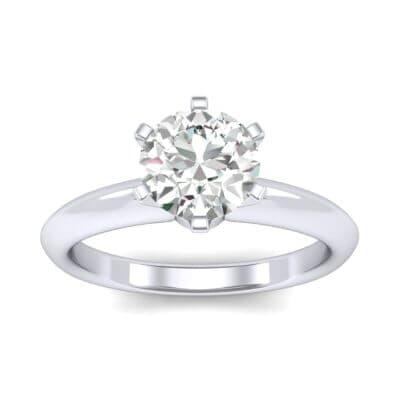 Petite Royale Six-Prong Solitaire Diamond Engagement Ring (0.84 Carat)