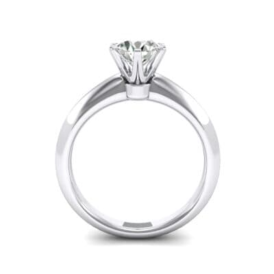 Petite Royale Six-Prong Solitaire Crystal Engagement Ring (0.84 CTW) Side View