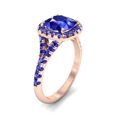 Single-Prong Marquise Blue Sapphire Ring (1.15 Carat)