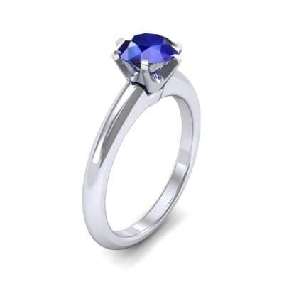 Low-Set Royale Six-Prong Solitaire Blue Sapphire Engagement Ring (0.84 Carat)