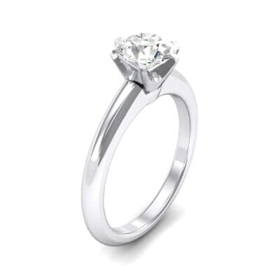 Low-Set Royale Six-Prong Solitaire Crystal Engagement Ring (0.84 CTW)