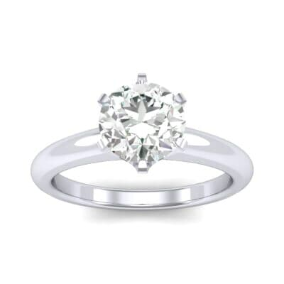 Low-Set Royale Six-Prong Solitaire Diamond Engagement Ring (0.84 Carat)