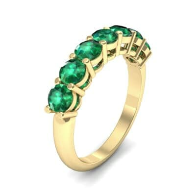 Shared-Prong Seven-Stone Emerald Ring (1.47 Carat)