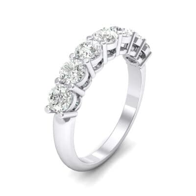 Shared-Prong Seven-Stone Crystal Ring (1.47 CTW)