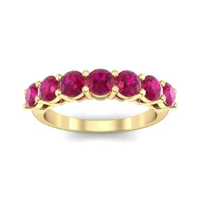 Shared-Prong Seven-Stone Ruby Ring (1.47 Carat)