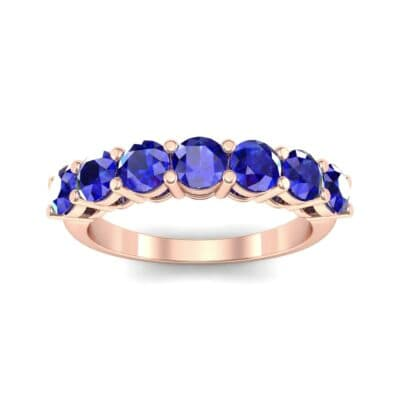 Shared-Prong Seven-Stone Blue Sapphire Ring (1.47 Carat)