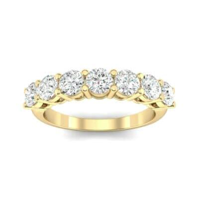 Shared-Prong Seven-Stone Diamond Ring (1.47 Carat)