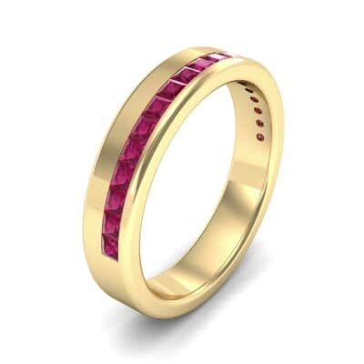 Horizon Princess-Cut Ruby Wedding Ring (0.38 Carat)