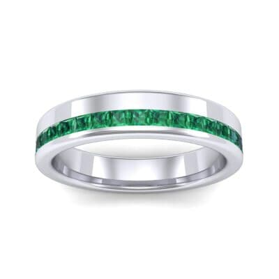 Horizon Princess-Cut Emerald Wedding Ring (0.38 Carat)