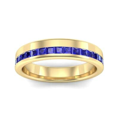 Horizon Princess-Cut Blue Sapphire Wedding Ring (0.38 Carat)