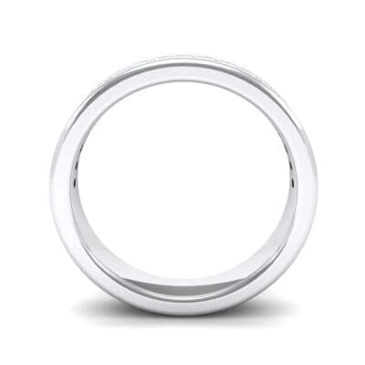 Horizon Princess-Cut Crystal Wedding Ring (0.29 CTW) Side View