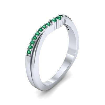 Circlet Contoured Emerald Ring (0.12 Carat)