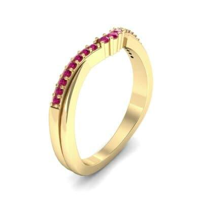 Circlet Contoured Ruby Ring (0.12 Carat)