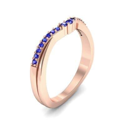 Circlet Contoured Blue Sapphire Ring (0.12 Carat)