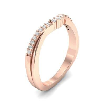 Circlet Contoured Diamond Ring (0.12 Carat)