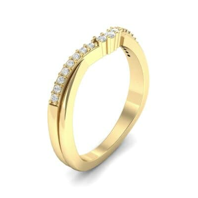 Circlet Contoured Diamond Ring (0.12 Carat)