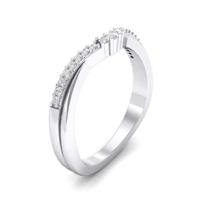 Circlet Contoured Crystal Ring (0.12 CTW)