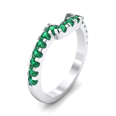 Bella Pave Emerald Ring (0.36 Carat)