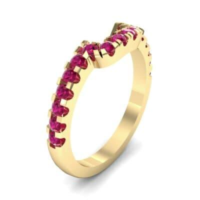 Bella Pave Ruby Ring (0.36 Carat)