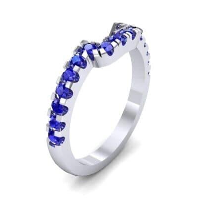 Bella Pave Blue Sapphire Ring (0.36 Carat)