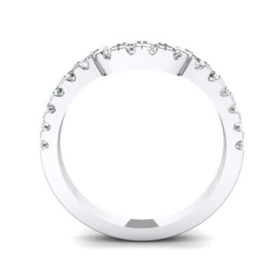 Bella Pave Crystal Ring (0.36 CTW) Side View