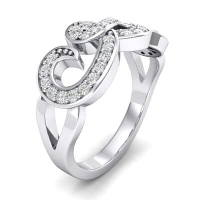 Pave Swirl Diamond Ring (0.29 CTW) Perspective View