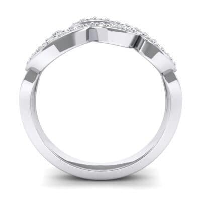 Pave Swirl Diamond Ring (0.29 CTW) Side View