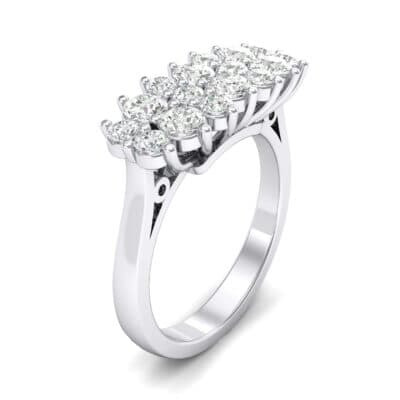 Embrace Crystals Cluster Engagement Ring