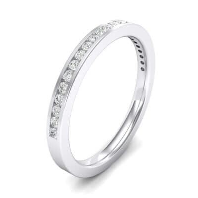 Extra-Thin Channel-Set Crystals Ring