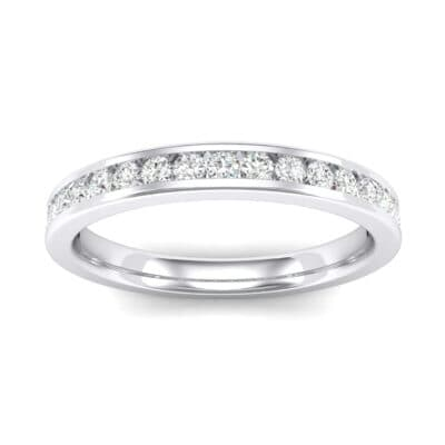 Thin Channel-Set Crystals Ring (0.38 Carat)