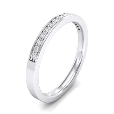 Thin Channel Pave Crystals Ring