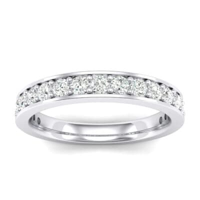 Medium Channel Pave Crystals Ring