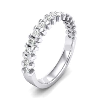 Extra-Thin Square Shared Prong Crystals Ring