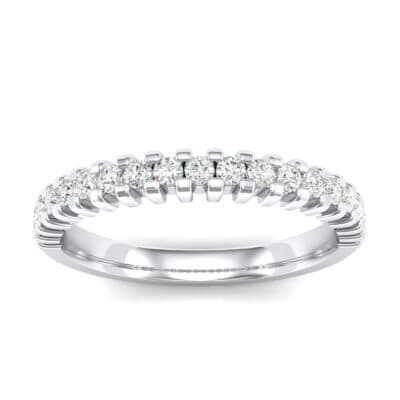 Thin Square Shared Prong Crystals Ring